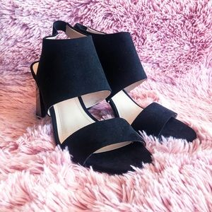 H&M Black square heeled shoes